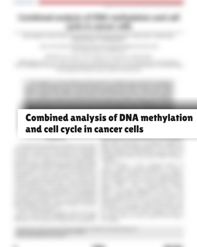 Combined analysis of DNA methylation and cell cycle in cancer cells