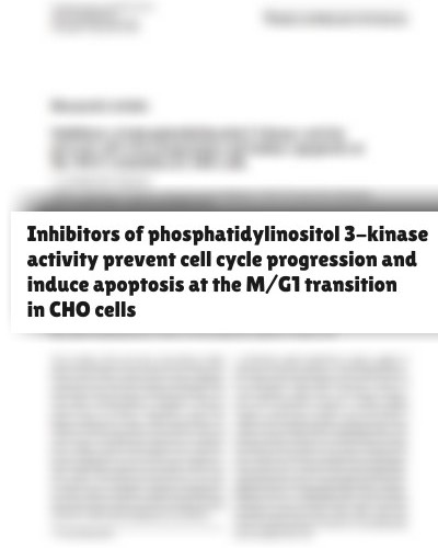 Inhibitors of phosphatidylinositol 3-kinase activity prevent cell cycle progression and induce apoptosis at the M/G1 transition in CHO cells